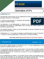 Anti Derivative of 2^x