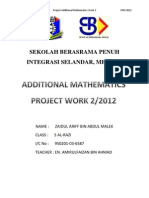 Melaka Add Math Project Work 2/2012