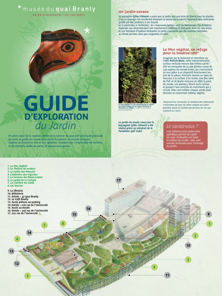 Guide Jardin Quai Branly