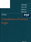 Fichte - Foundations of Natural Right - 1797