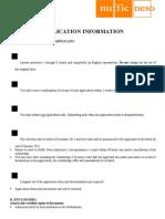 StuNed Form (Short Course - Deadline 1 Oct 11)