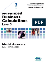 Advanced Business Calculation/Series-4-2007(Code3003)