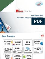 Esker Corporate Presentation 2012