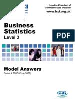 Business Statstics/Series-4-2007(Code-3009)
