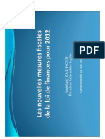 Mesures Fiscales Loi Finances 2012 Vf2