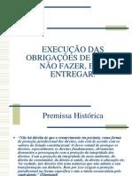 EXECUÇÃO ESPECÍFICA DAS OBRIGAÇÕES DE FAZER E NÃO FAZER