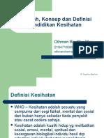 Topik 1 - Falsafah, Konsep Dan Definisi Pendidikan Kesihatan