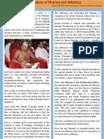 An Analysis of Dharma and Adharma a Gist of Speech by Sri Sarpv Chaturvedi Swamy