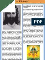 Lord Maitreya a Compilation by Sanjay Bharatha