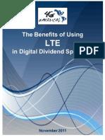 Benefits of LTE in Digital Dividend_11.08.11