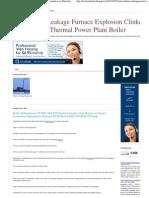 Boiler Tube Leakage Furnace Explosion Clinker Formation in Thermal Power Plant Boiler_ Boiler Turbogenerator GT ESP ABT FSS Dea