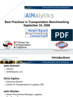 2008 09 24 Best Practices in Transportation Benchmarking