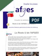 DDP enquête satisfaction RU Gallia 2012