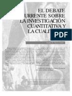 El debate recurrente sobre la investigación cuantitativa y la cualitativa_Carlos E. Vasco Uribe