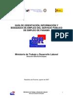 Guia de Orientacion, Informacion y Búsqueda de Empleo del Servicio Público de Empleo de Panama