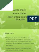 Aliran Marx,Weber,Toeri Interkasionalisme Simbolik edit by myhani hussin