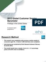 2012 Global Customer Service Barometer (American Express) - JUN12