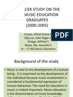 A Tracer Study on the Bse Music Education
