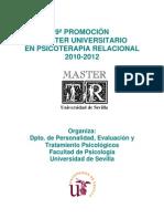 PROGRAMA Master Universitario en Psicoterapia Relacional. Universidad de Sevilla
