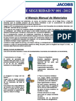 Boletin HSE 001 Manejo Manual Materiales