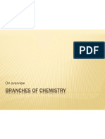 Branches of Chemistry
