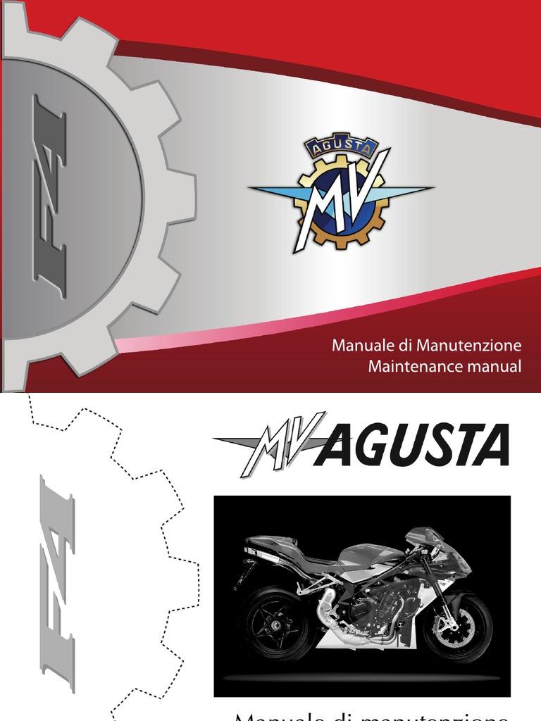 WORKSHOP SERVICE REPAIR MANUAL MV AGUSTA F4 R-R 1+1-312 R-R 1+1