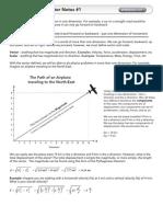 Physics Notes Vectors 1