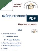 BAÑOS ELECTROLÍTICOS
