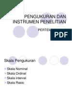 Ekm 2405 Slide Skala Pengukuran Dan Instrumen Penelitian