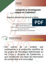 ¿Cómo se comporta la investigación psicológica en Colombia?