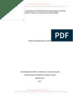 INFORME FINAL PASANTIAS EN INTERVENTORIA UNIVERSIDAD DISTRITAL EN ESPACIO PUBLICO LOCALIDAD ANTONIO NARIÑO correccion