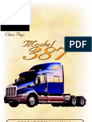 Peterbilt Model 387 Operators Manual | Headlamp | Air