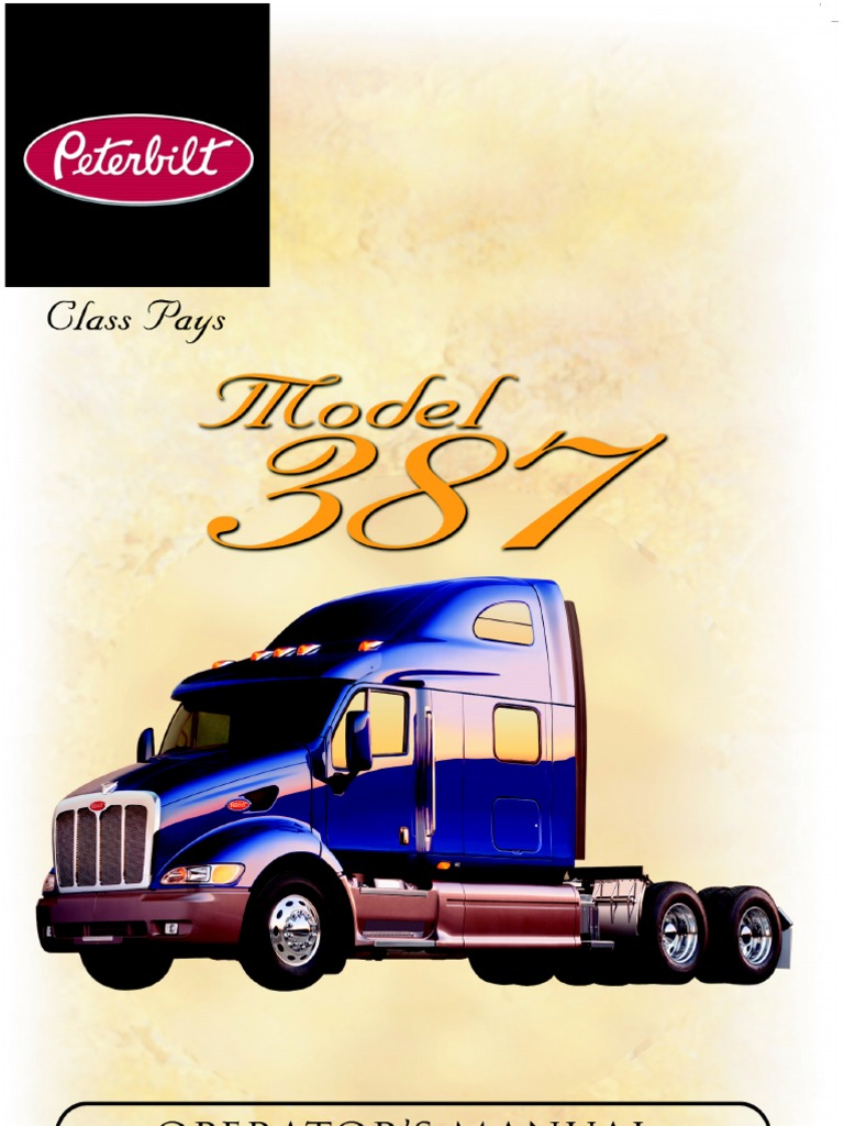 peterbilt model 387 operators manual headlamp air conditioning rh scribd com 1977 Peterbilt 359 1977 Peterbilt 359
