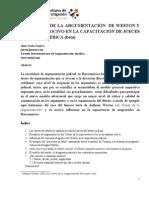 LAS CLAVES DE LA ARGUMENTACION DE  WESTON Y SUS EFECTOS NOCIVOS EN LA CAPACITACIÓN JUDICIAL EN IBEROAMÉRICA