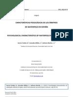 Estudio Psicologia Arbitral en Waterpolo de Bruno Garcia