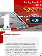 Sterling Bank Q1 2012 Investor/Creditor Presentation