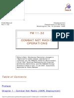 FM 11-32 Combat Net Radio Operations