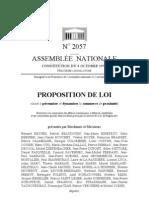 2009 11 05 Proposition de Loi Commerce de Proximite