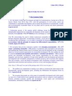 Draft of UN Rio+20 main text