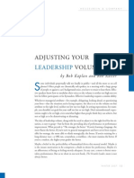 Adjusting Your Leadership Volume