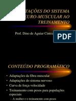 ADAPTAÇÕES DO SISTEMA NEURO-MUSCULAR AO TREINAMENTO