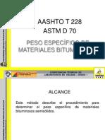 Peso Específico de materiales bituminosos
