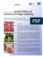 MCOOL and Politics of Country of Origin Labeling