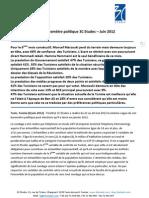 Communiqué de presse 3C Etudes - 6è vague baromètre politique Tunisie - juin 2012 - version française