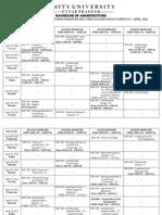 Date Sheet 8th Sem