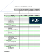 DATA CENTER Design Checklist