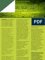 Ramadan Newsletter Nr. 2