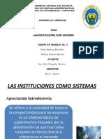 Diapositivas Intituciones Como Sistemas