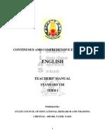 CCE- Teachers Manual English STD 8