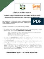 Criterios Para Evaluar Los Cursos 2011
